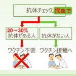 ②B型肝炎ワクチンは抗体を調べる